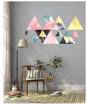 Asian Paints Nilaya Funky Angles Multicolour - 16 x 32 Wall Stickers