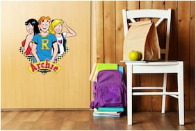 Asian Paints Wall Ons Original Archie 'XL' - 'Meet the three Posers' Removable Wall Sticker