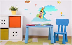 Asian Paints Wall Ons Original Chhota Bheem 'XL' - 'in the clouds' Removable Wall Sticker