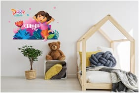 Asian Paints Wall Ons Original Dora 'XL' - 'Into the Woods' Removable Wall Sticker