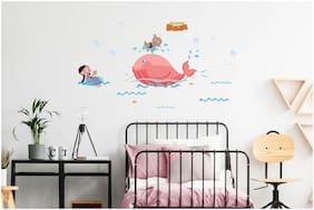 Asian Paints Wall Ons Original Chhota Bheem 'XL' - 'water fun with Chutki' Removable Wall Sticker
