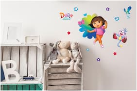 Asian Paints Wall Ons Original Dora 'L' - 'Monkey Around' Removable Wall Sticker