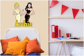 Asian Paints Wall Ons Original Archie 'XL' - 'Betty and Veronica dress up for Archie' Removable Wall Sticker