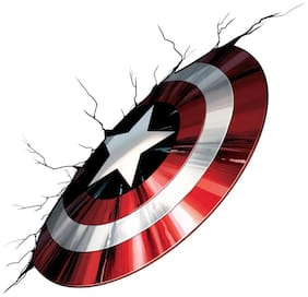 Asian Paints Wall Ons Original Captain America Vibranium Shield Decal,DIY Removable Peel and Stick Wall Sticker