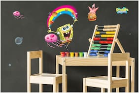 Asian Paints Wall Ons Original Spongebob 'XXL' - 'Underwater Jellyfish Hunt' Removable Wall Sticker