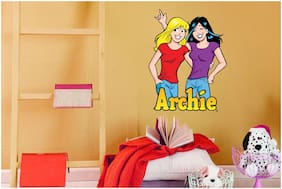 Asian Paints Wall Ons Original Archie 'XL' - 'Betty and Veronica Best Friends Forever' Removable Wall Sticker