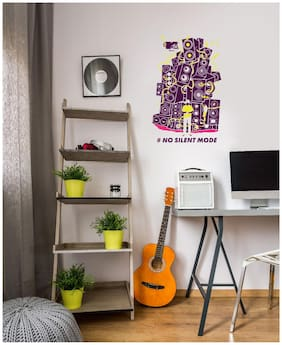 Asian Paints Wall Ons Original MTV 'XL' - 'No Silent Mode' Removable Wall Sticker