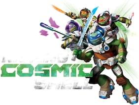 Asian Paints Wall Ons Original TMNT 'XL' - 'Kicking Cosmic Shell' Removable Wall Sticker