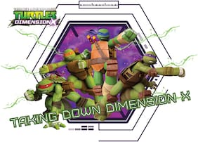 Asian Paints Wall Ons Original TMNT 'XL' - 'Take down Dimension X' Removable Wall Sticker