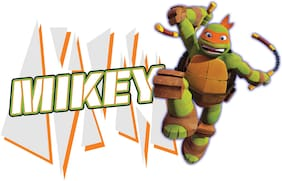 Asian Paints Wall Ons Original TMNT 'L' - 'Mikey's Nun Chunks' Removable Wall Sticker