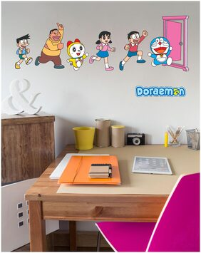 Asian Paints Wall Ons Original Doraemon 'XL' - 'Enter the Anywhere Door' Removable Wall Sticker