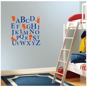 Asian Paints Wall Ons Alphabets Kids Wall Sticker (PVC Vinyl;30.48cm x 76.20 cm;Multicolour)
