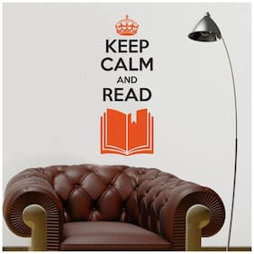Asian Paints Wall Ons Keep Calm Read Wall Sticker (PVC Vinyl;50.8cm x 30.48 cm;Multicolour)