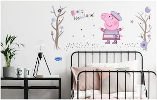 Asian Paints Wall Ons Original Peppa Pig 'XL' - 'Autumn Fun' Removable Wall Sticker