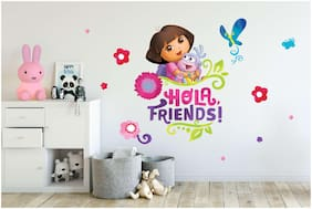 Asian Paints Wall Ons Original Dora 'XXL' - 'Join the Team' Removable Wall Sticker
