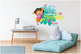 Asian Paints Wall Ons Original Dora 'XL' - 'Adventure On' Removable Wall Sticker