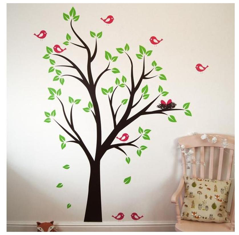 buy asmi collection printed wall sticker ( 1 pc ) online at low
