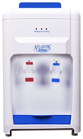 Atlantis Atlantis Blue Hot & Cold Table Top Water Dispenser (White;Blue)