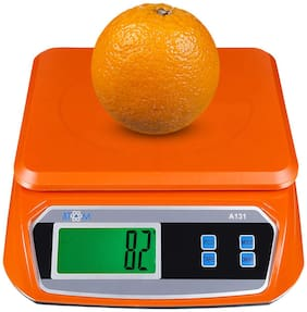 ATOM Compact Digital Kitchen Plastic Food Weighing Scale with High Precision Strain-Gauge Sensor;1 g-30 kg