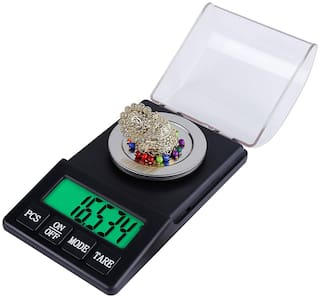 Atom Professional Plastic Digital Jewelry Scale Gold Silver Gems for Accurate Measurement, Capacity 0.001 -60 g