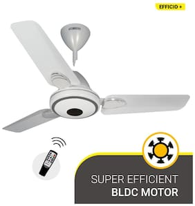Atomberg Efficio+ 900mm Ceiling Fan with Remote Control (Pearl White)