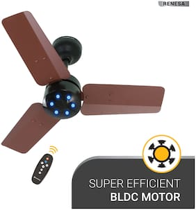 Atomberg Renesa 600mm Ceiling Fan with Remote Control (Brown Black)