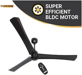 Atomberg Renesa+ 1400mm BLDC motor Energy Saving Anti-Dust Ceiling Fan with Remote Control | Earth Brown