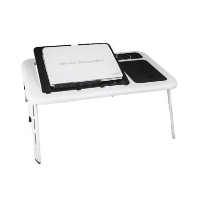 aura laptop table white