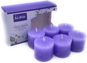 AuraDecor Paraffin wax Blue Candle