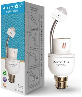 Auto-ON Light Fixture (0.3 Watts) (Convert any Bulb to Automatic) (Electricity Saver)