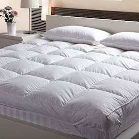AVI High Quality Single Bed Finest Imported super microfiber Mattress Padding/Topper- White (36*78in)