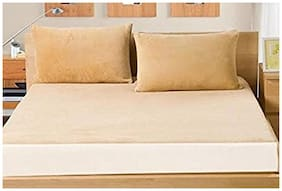 AVI High Quality Wate Queen Size Mattress Cover (60x78)With Set 2 Standard Size Zipper Pillow Protector(17x27)(Beige)