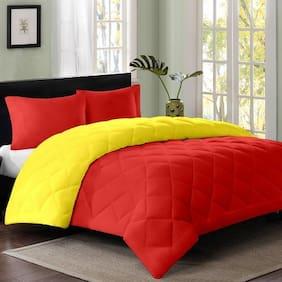 AVI Polyester Solid Single Size Comforter Multi