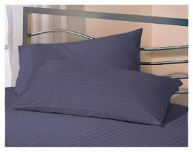AVI Blended Plain Pillow Covers ( Pack of 1 , Blue )