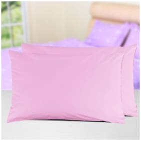AVI Set Of 2 Pcs King Size Waterproof ,SpillsProof Dustproof Hypoallergenic Bug Proof King Size Zipper Pillow Protector (20X36)-Pink