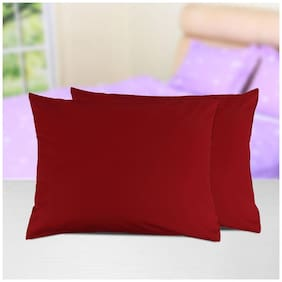 AVI Set Of 2 Pcs King Size Waterproof ,SpillsProof Dustproof Hypoallergenic Bug Proof King Size Zipper Pillow Protector (20X36)-Red