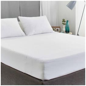 AVI Set of 2 Pcs Waterproof And Dustproof King Size Fitted Mattress Protector-72x78 (White)