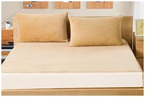 AVI Set of 2 Pcs Waterproof And Dustproof King Size Fitted Mattress Protector-72x72 (Beige)