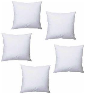 AVI Set of 5 Microfibre Cushions-16x16 (White)