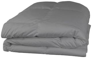 AVI Polyester Solid Single Size Comforter Grey