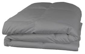 AVI Polyester Solid Single Size Comforter Grey