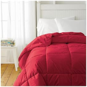 AVI Soft Micro Polyester AC Single Bed Comforter/Blanket/Quilt/Duvet For Winters-60x90 (Red)