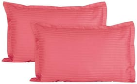 AVI Super Classic 2 Piece Pillow With 2 Pillow Cover Set For 5 Star Hotel Feel, Pink (20*36in)