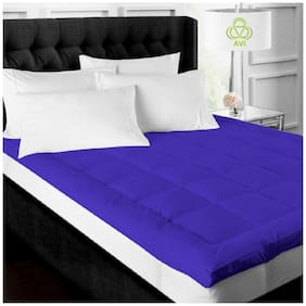 AVI Super Soft 500GSM Mattress Padding/Topper For Comfortable Sleep - Navy Blue(60x72)
