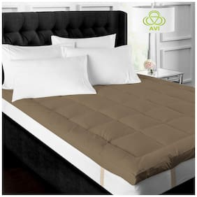 AVI Super Soft 500GSM Mattress Padding/Topper For Comfortable Sleep - Brown(60x72)