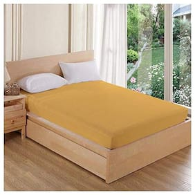 AVI Waterproof Dustproof Spf Double Bed Fitted Mattress Protector(72x72) With 2 pcs(17x27) make your bed spillproof- Beige