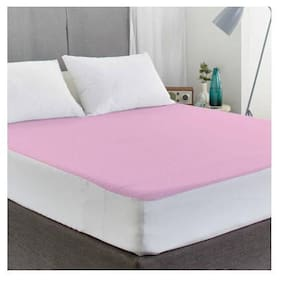 AVI Waterproof Twin Size Bed Fitted Mattress Protector For Complete Protection Of Your Mattress- Pink (121.92 cm (48 inch) x 190.5 cm (75 inch))6.25 x 4 Foot/Feet)