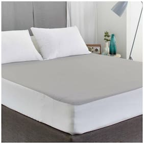 AVI Waterproof Small Bed Fitted Mattress Protector For Complete Protection Of Your Mattress- Light Grey (91.44 cm (36 Inch) x 182.88 cm (72 Inch))6 x 3 Foot/Feet)