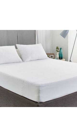 AVI Waterproof Large Twin Size Bed Fitted Mattress Protector For Complete Protection Of Your Mattress- White (121.92 cm (48 Inch) x 198.12 cm (78 Inch))6.5 x 4 Foot/Feet)