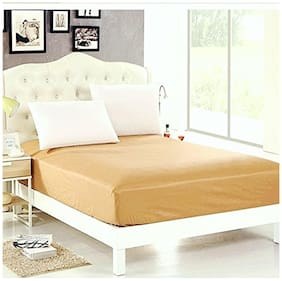 AVI Waterproof Dustproof Single BMattress Protector/Mattress Cover With 1 Pc Pillow Protector for complete protection of your bed- Beige-36X78